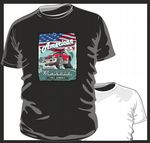 KOOLART AMERICAN MUSCLE CAR Design for Retro Chevy Chevelle Mens or ladyfit t-shirt